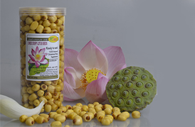 DRIED CRISPY LOTUS SEEDS /350G. -[ROASTED LOTUS SEEDS SNACK]